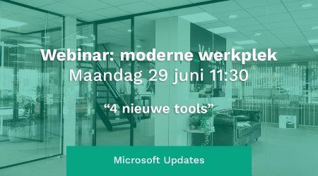Webinar: Moderne Werkplek